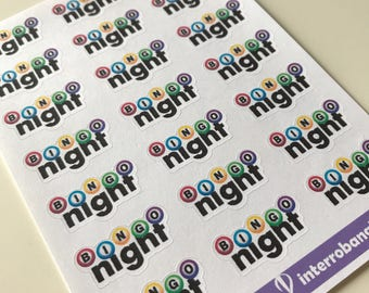 A03 - Bingo Night - Planner Stickers