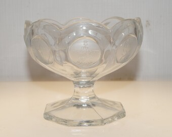 Fostoria Coin Glass Creamer Jelly Compote Nut Footed Bowl Dish