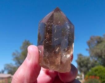Golden Rutilated Quartz Crystal - Rutilated Quartz Crystal, Rutilated Quartz, Golden Hair Quartz, Quartz Crystal, Crystals, Rutile, Crystals