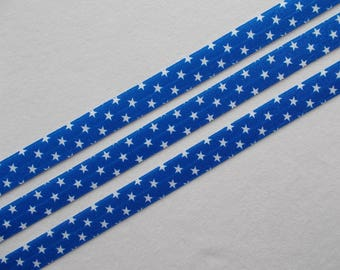 Patriotic, 4th. of July, Memorial day, Military, FOE, White stars on blue… elastic ribbon-FOE 75 cents per yard. DIY  4th. of July headbands