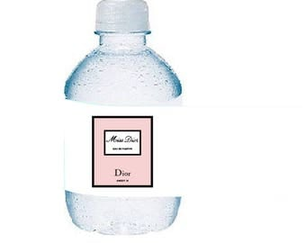 Perfume Water Bottle Wrap Cover - Printable or Printed