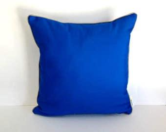Outdoor Sunbrella Cobalt Pillow, Royal Blue Outdoor Cushion, UV Ray Resistant Pillow