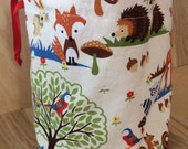 Forest Woodland Sock Knitting Project Bag