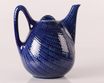 Herta Bengtsson Blue Fire ( Blå Eld) Coffeepot by Rorstrand  in Sweden - mid century