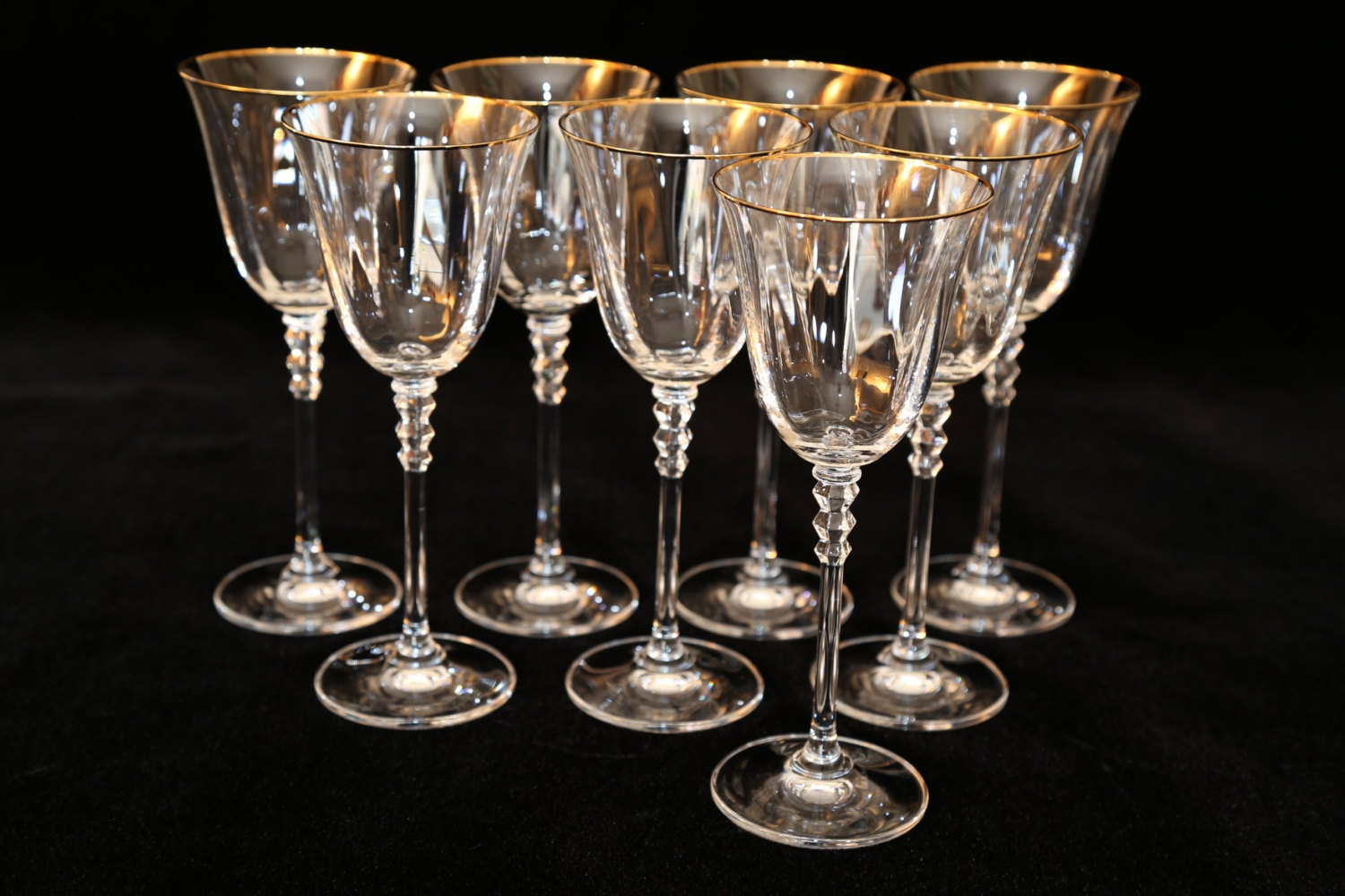 Crystal wine glass gold rimmed crystal wine glass optic - Lenox gold rimmed wine glasses ...