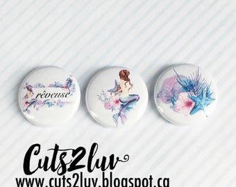 "3 Badges 1"" Sirène"
