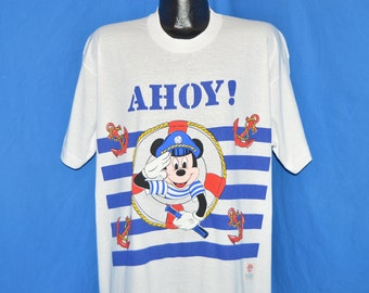 80s Mickey Mouse Sailor Captain Deadstock Night t-shirt XXL