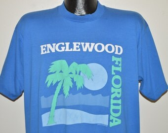 80s Englewod Florida Sunset t-shirt Extra Large