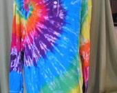 Tie dye J America Vintage Brushed Jersey Henley-XXLarge