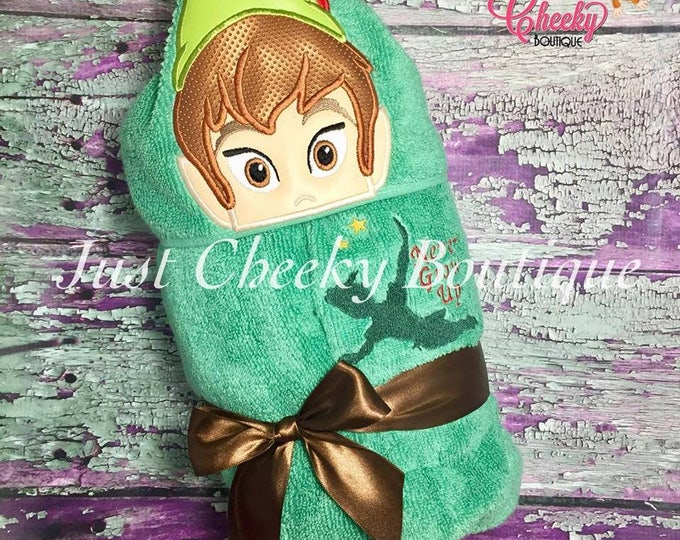 Neverland Boy Inspired Hooded Towel - Peter Pan - Disney Birthday