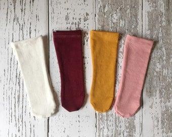 Baby knee socks, over the knee socks, toddler socks, baby socks, toddler knee socks, knee high baby socks, girl socks