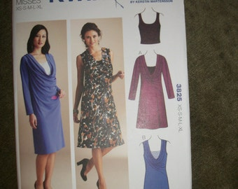 Kwik Sew 3825 Misses XS to XL Dresses and Top