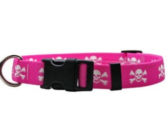 Pink Skulls Standard Collar