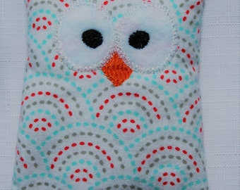 Ouchie Owl ~ Hot or Cold ~ Rice Pack - Arches - Dots - Red, White, Blue, Gray