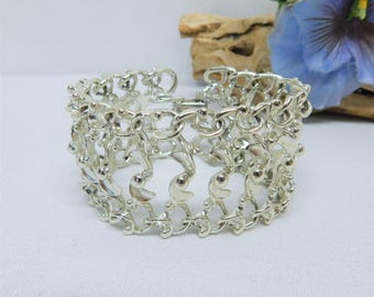 Vintage Sarah Coventry Bracelet Silver Tone Multi Row Links