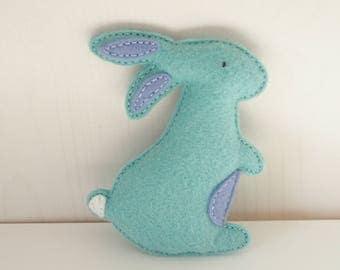 Bunny Baby Rattle - Wool Blend Felt Toy