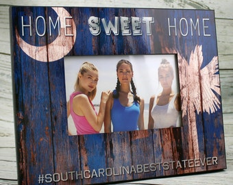 South Carolina Picture Frame, Home Sweet Home Vintage, Faux Wood