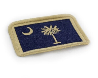 South Carolina Embroidered Flag Patch