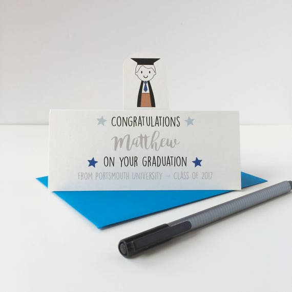 Boy's Graduation card - Graduation card - congratulation on your graduation - graduation