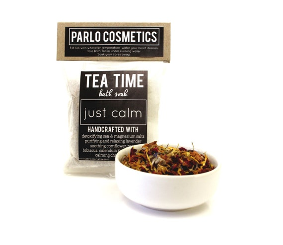 Just Calm Tea Time Bath Soak - Oatmeal Milk and Honey - Gifts for Her - Gifts to Pamper