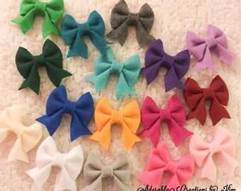 17 COLORS Felt hair bow felt bow felt clip felt hair clip mini felt bow large felt bow