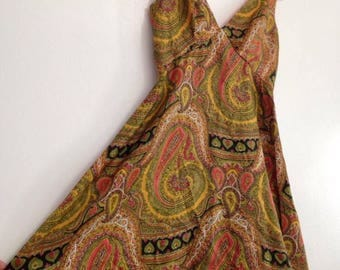 Vintage Psychedelic 1970s Pucci-inspired Fit and Flare Mini Dress