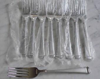 9 NEW UNUSED Wallace Bennett Stainless 8 1/2inch Dinner Forks