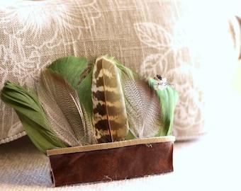 head band with feathers - feather headband - feather headband baby - baby boy headbands - green feather headband - newborn props