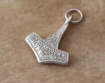 Sterling Silver Mjolnir Pendant – Viking Jewelry – Thor's Hammer Pendant – Viking Pendant Scandinavian Jewelry – Viking Amulet Norse Jewelry