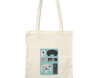 """Bag / Tote bag """"retro controllers"""""""