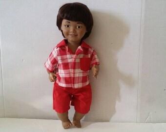"Vintage  Lakeshore  Boy Doll 15"""