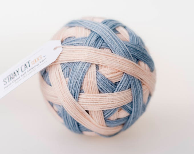 Jemima - vibrant hand dyed self striping sock yarn