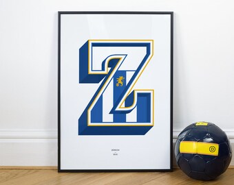 Z is for Zurich, Football Typography Print