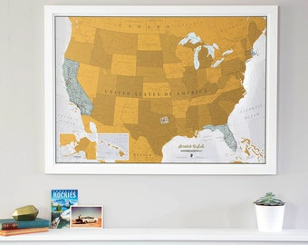 Scratch USA Print - Scratch Off Your Travels! -- Gift for him, gift for her, travel gift, birthday gift, gift, wall hanging, home decor