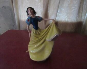 Scmid Snow White music box ceramic figure