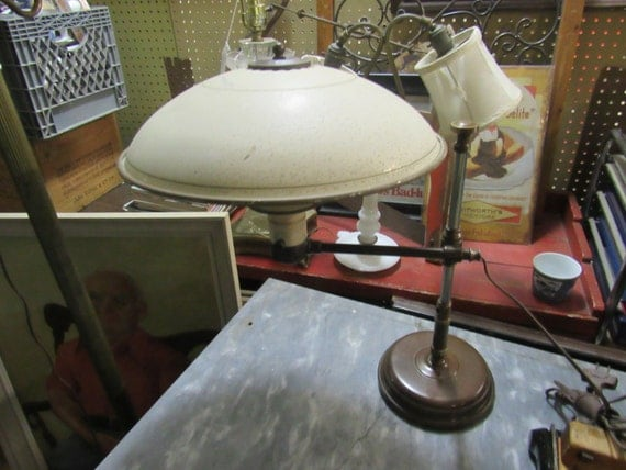 Tole Desk Lamp Metal Industrial adjustable