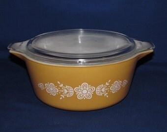 PYREX BUTTERFLY Casserole Dish 475B 2.5 quart