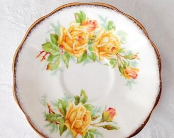 Tea Rose pattern Royal Albert saucer English bone china