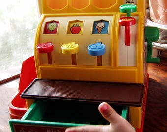 Fisher Price Cash Register Toy, 1971