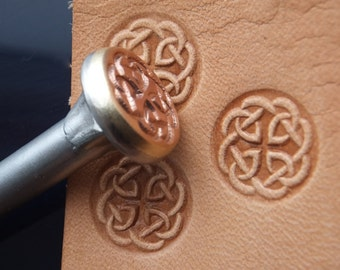 012-08 Celtic KNOT Vintage Leather stamp Homemade Saddlery Tool