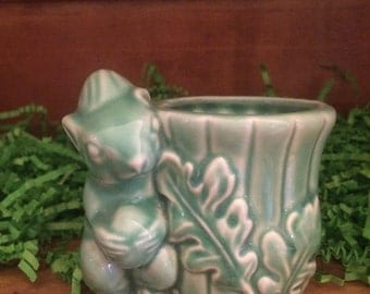 Reserved for Jeanie  Squirrel Planter