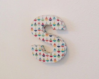 Upcycled cardboard lowercase wall letter  *SAMPLE SALE!*