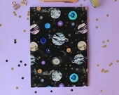 A4 Marble Planets Galaxy  Notebook with lined pages