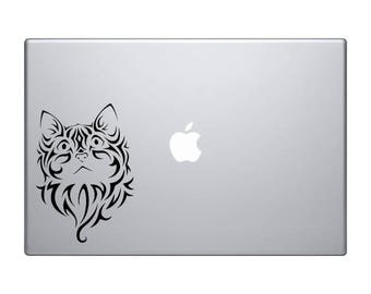 Tribal kitten vinyl decal, cat decal, car sticker, laptop sticker