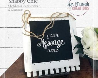 Shabby Chic Chalkboard Jewelry Holder