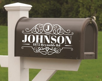 Mailbox Decal Etsy - Custom vinyl decals numbers
