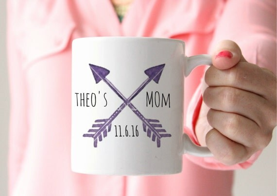 Custom hipster mom mug birthday mom mug arrow coffee mug hipster arrow mug