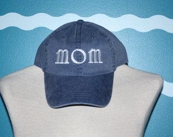 Mom Baseball Cap - Mom ball cap - embroidered Mom baseball cap - custom Mom hat - custom embroidery - Hat for Mom