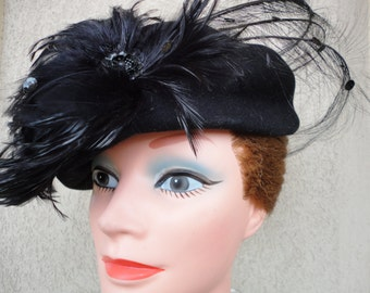 Stunning Black Wool Hat
