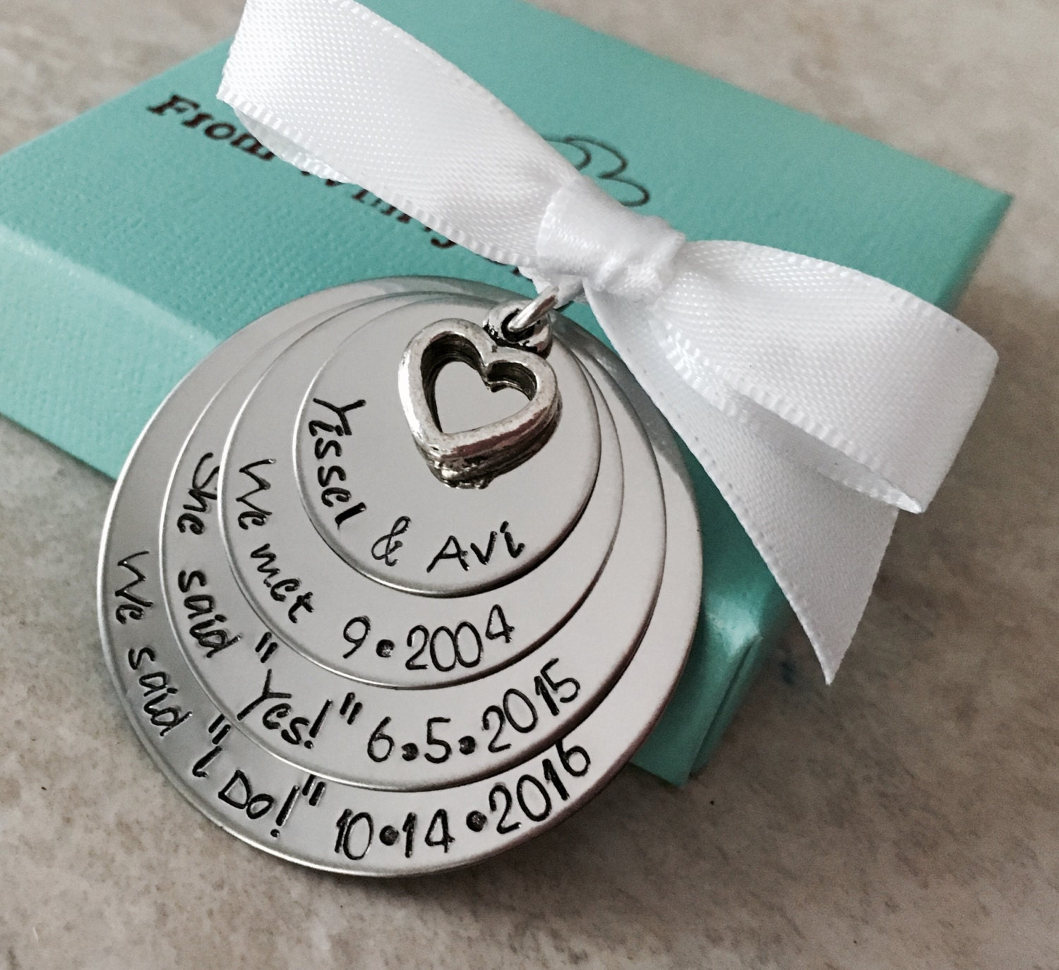 Personalized wedding christmas ornament - Personalized Christmas Ornament Our First Christmas She Said Yes Engagement Ornament Wedding Date Holiday Decorations Family Ornament